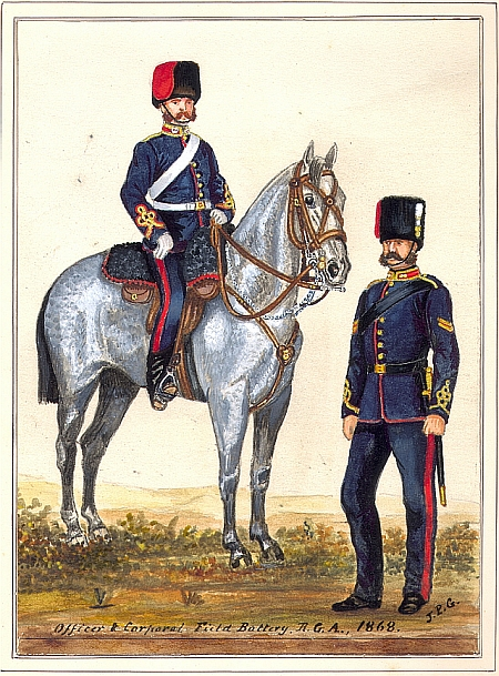 Officers of the Field Battery, 1868, GM