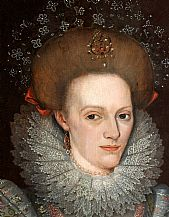 Anne Leighton, portrait detail, by permission of Lydiard House and Park