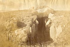 An old photograph of the Creux es Faies passage grave (L'Eree, Guernsey)
