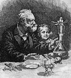 An image of Hugo, probably with one of his grandchildren, from a book by Rivet in the Library