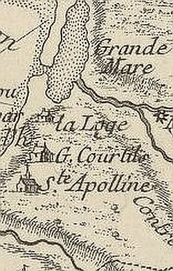 1757 map of Guernsey, detail